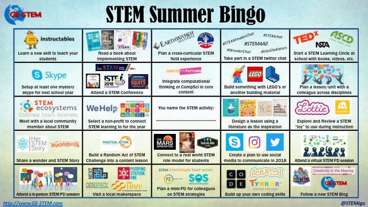 STEM Development Bingo